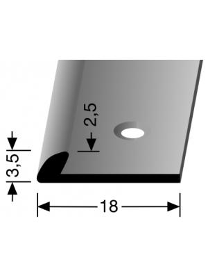 Profilis aliuminis, kampų apdailai BEST 356, 2,5 m