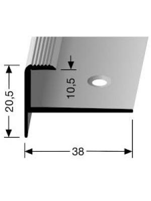 Profilis aliuminis, laiptų apdailai BEST 811, 2,5 m