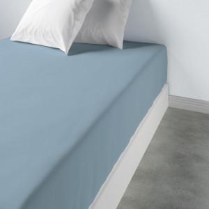 Patalynė paklodė su guma 160 x 200 x 35 cm bleu polaire Les Ateliers du Linge