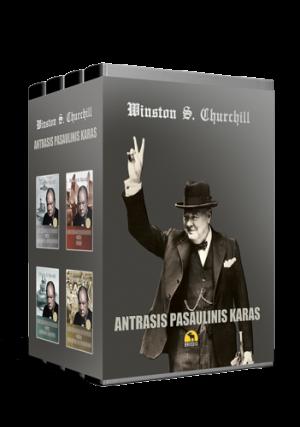 """Winston S. Churchill / """"Antrasis pasaulinis karas. 4 tomų kolekcinis rinkinys"""" /  / knyga /  Briedis leidykla"""