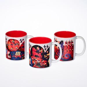 """Rinkinys """"Nykštukas"""" (3vnt.): puodeliai su sublimaciniu atspaudu"""
