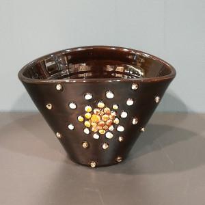 Indelis-vazelė su burbuliukais mažas rudas