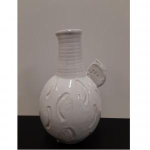 Vaza buteliukas apvalus baltas