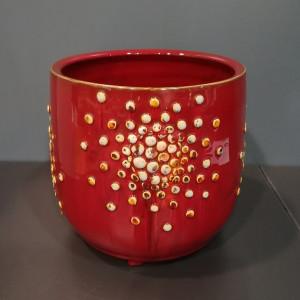 Įdėklas cilindras su burbuliukais didelis raudonas