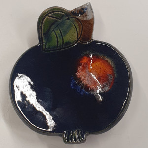 Obuoliai padėkliukai maži mėlyni