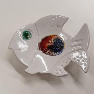 Žuvys padėkliukai maži balti