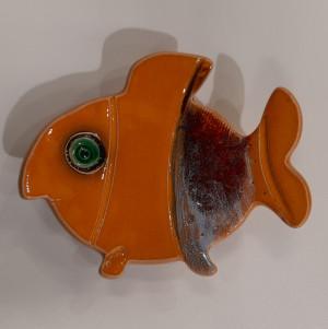 Žuvys padėkliukai maži geltoni