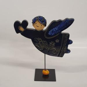 Angeliukas ant stovelio mažas mėlynas
