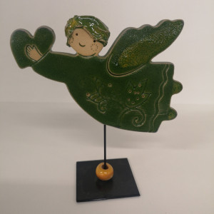 Angeliukas ant stovelio mažas žalias