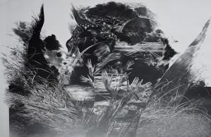 """Birutė Stančikaitė / """"Nesugrąžinama III"""" / 1985 / litografija / 62x101"""