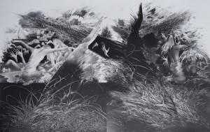 """Birutė Stančikaitė / """"Nesugrąžinama IV"""" / 1985 / litografija / 64x101"""
