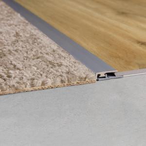 Užbaigimo profilis vinilui Rigid NEVRADPSILV, 24x8,5 mm, 2 m, Quick Step