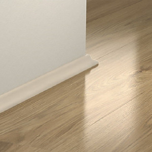 MDF grindjuostė PGSCOTWHITE, Balta, 17x17mm 2,4m, Pergo