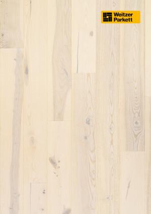 Parketlentės Weitzer parkett, Polar uosis, rustic colourful, 48369, 1800x175x11, 1 juostos, Comfort plank kolekcija