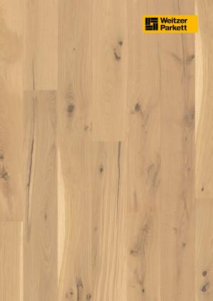 Parketlentės Weitzer parkett, Kaschmir ąžuolas, rustic colourful, alyva, 64822, 1800x175x11, 1 juostos, Comfort plank kolekcija