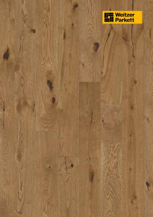 Parketlentės Weitzer parkett, Mandel ąžuolas, rustic colourful, 62617, 1800x175x11, 1 juostos, Comfort plank kolekcija