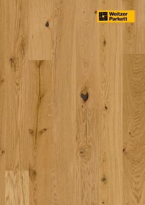 Parketlentės Weitzer parkett, natūralus ąžuolas, rustic, alyva, giliai šukuota, 64584, 1800x175x11, 1 juostos, Comfort plank kolekcija