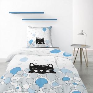 Patalynės komplektas 1 Pussycat mėlyna 140 x 200 cm Les Ateliers du Linge