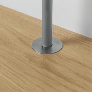 Quick Step radiatorių vamzdžio apdaila, nerūd.plieno, diametras 22 mm