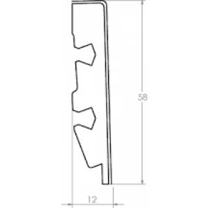 MDF grindjuostė QSSK(-) Impressive kolekcijai, 12x58mm 2,4m, Quick-Step