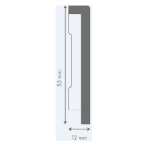 LIVYN grindjuostė QSVSKRB(-) Pulse kolekcijai, 12x55mm 2m, Quick-Step