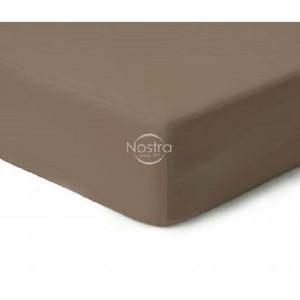 Viengulė satino paklodė su guma Nostra Cacao 00-0211