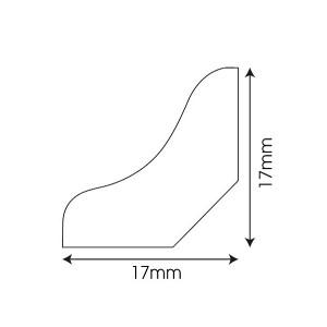 MDF grindjuostė QSSCOT(-) Creo kolekcijai, 17x17mm 2,4m, Quick-Step