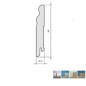 Faneruota grindjuostė, SEG100, 15x95 2,5m, Pedross