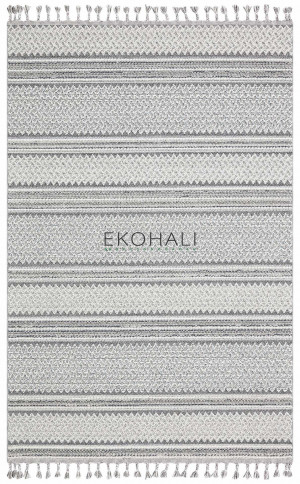 Kilimas Ekohali Soho SH05 ivory pilka 130x190 cm