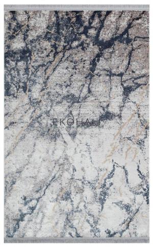 Kilimas Ekohali Sateen ST11 silver marine XXW 120x180 cm