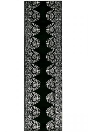 Kilimas Vallila Tulum shiny black white 68x220 cm