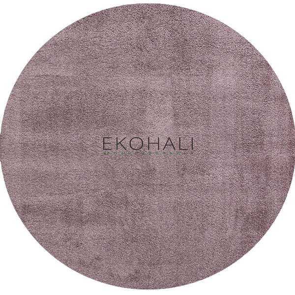 Kilimas Ekohali Comfort 1006 lila apvalus 130 cm