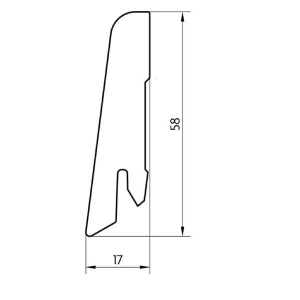 MDF grindjuostė, 17x58mm