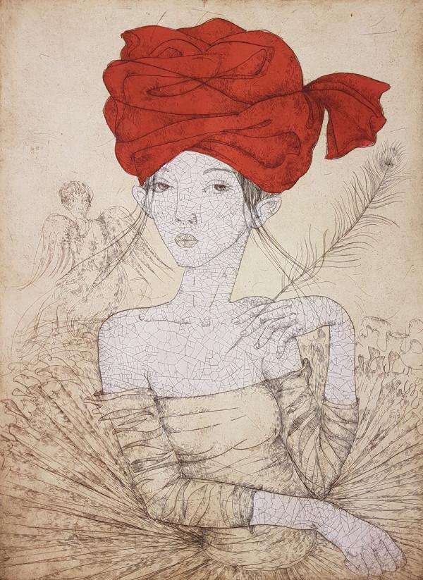 "Edita Suchockytė / ""Balerina"" / 2017 / ofortas / 64,5x47,5 / 10-100"
