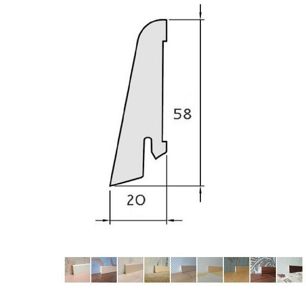 Faneruota grindjuostė, 20x58 2,5m, Pedross
