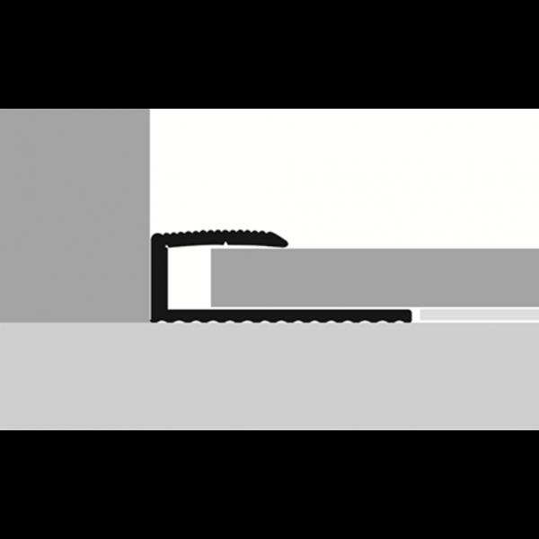 Profilis aliuminis, kraštų užbaigimui BEST 215 H, balinto ąžuolo H33 spalvos, 270cm, Kuberit