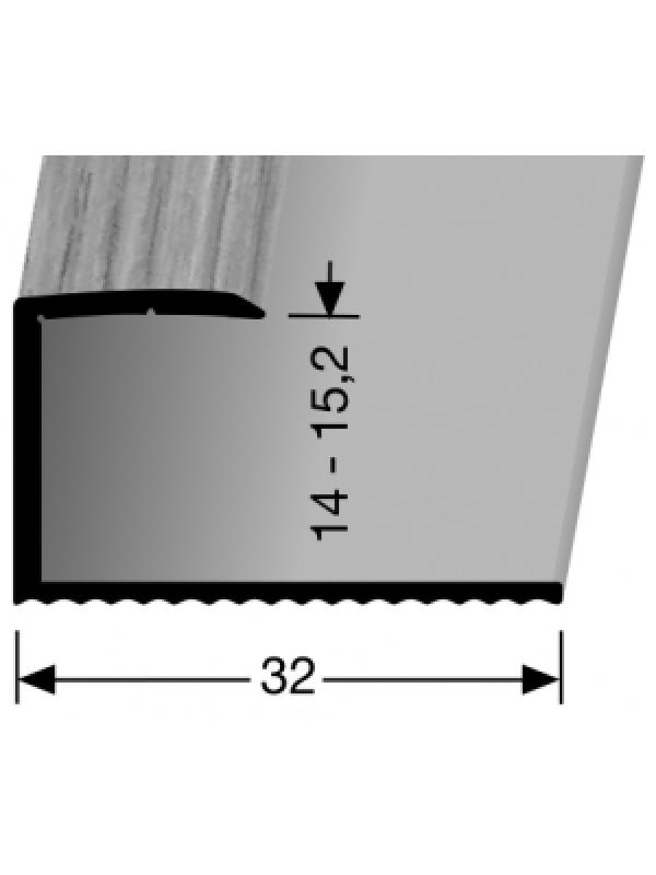 Profilis aliuminis, kraštų užbaigimui BEST 215 H, ažuolo spalvos, 270cm, Kuberit