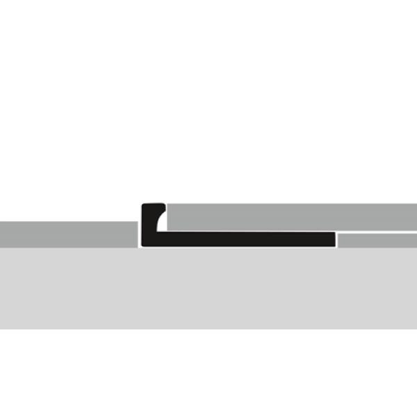 """Profilis aliuminis, kraštų užbaigimui EB 303 (lenkiamas), sidabro spalvos, 250cm, """"Kons."""" Kuberit"""