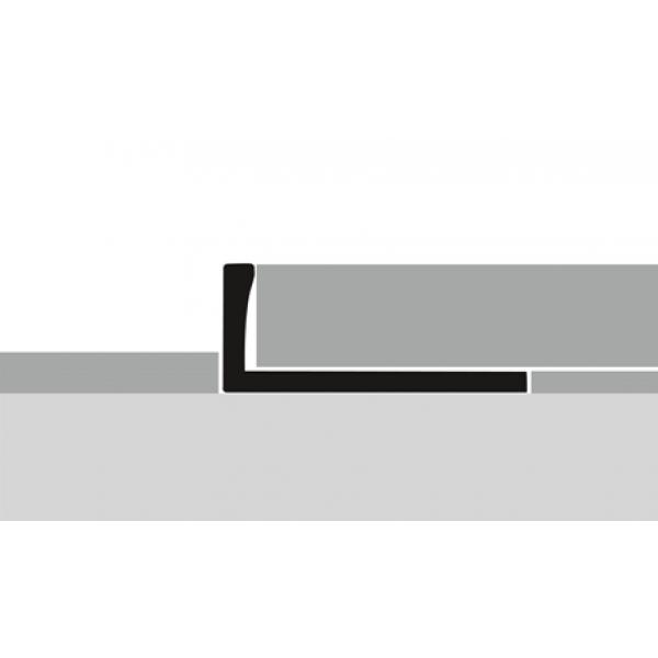 """Profilis aliuminis, kraštų užbaigimui EB 305 (lenkiamas), sidabro spalvos, 250cm, """"Kons."""" Kuberit"""