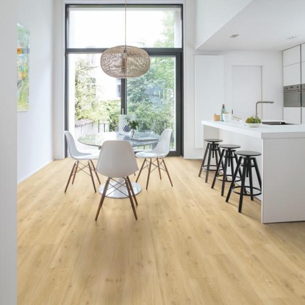 Vinilinės grindys Quick-Step, Drift ąžuolas rusvai gelsvas, BACP40018, 1251x187x4,5mm, 33 klasė, su užraktu, Balance Click Plus kolekcija