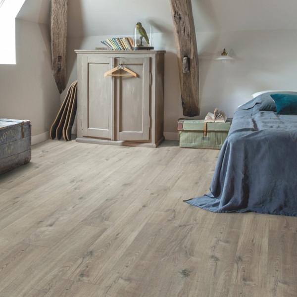 Vinilinės grindys Quick Step, Cotton ąžuolas pilkas su pjūklo pjūviu , PUGP40106_1