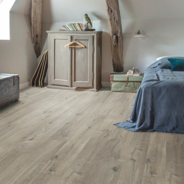 Vinilinės grindys Quick Step, Cotton ąžuolas pilkas su pjūklo pjūviu , PUCP40106_1