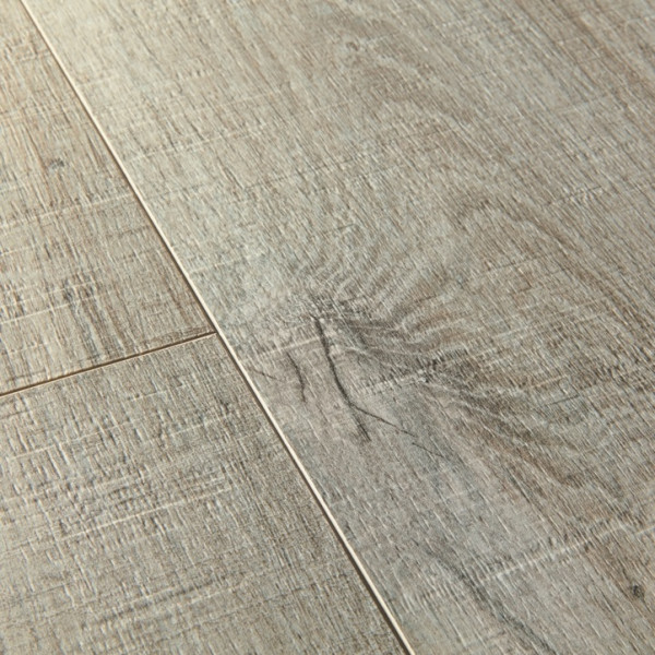 Vinilinės grindys Quick Step, Cotton ąžuolas pilkas su pjūklo pjūviu , PUCL40106, 1510x210x4,5mm, 32 klasė, su užraktu, Pulse Click kolekcija