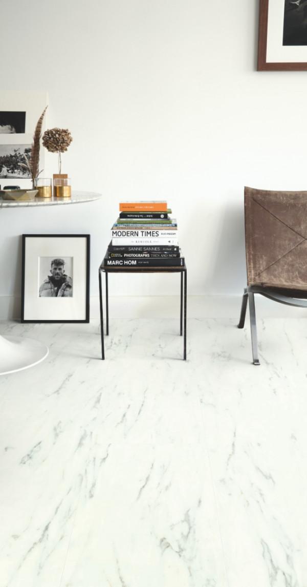 Vinilinės grindys Quick Step, Carrara marmuras baltas, AMCL40136_1