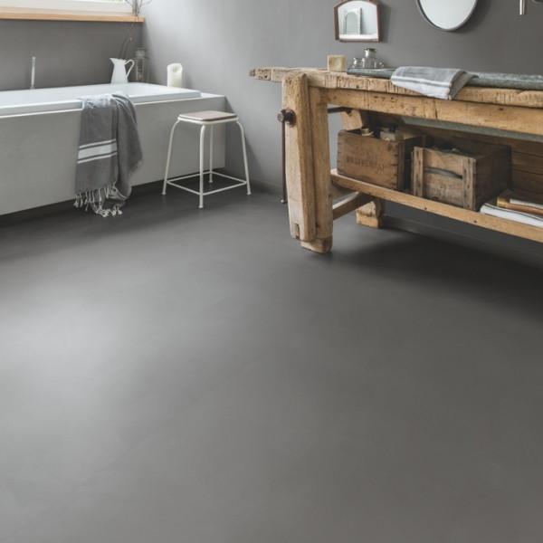 Vinilinės grindys Quick Step, Minimal vidutinio pilkumo, AMGP40140, 1305x327x2,5mm, 33 klasė, klijuojamas, Ambient Glue Plus kolekcija
