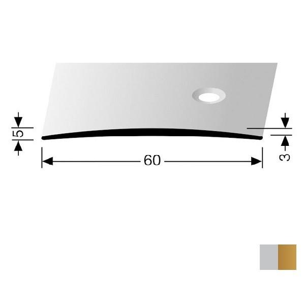 Profilis aliuminis, dangų sujungimui BEST 464 S (pragręžtas krašte su varžtais), 2,7 m