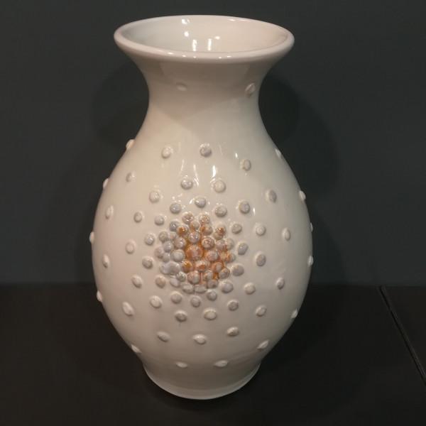 Vaza pūsta su burbuliukais didelė balta
