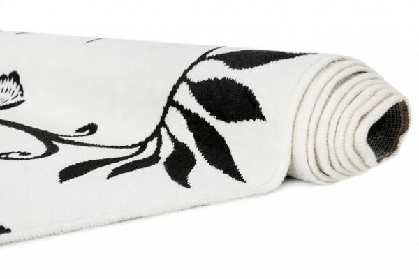Kilimas Vallila Aino white black  68x110 cm