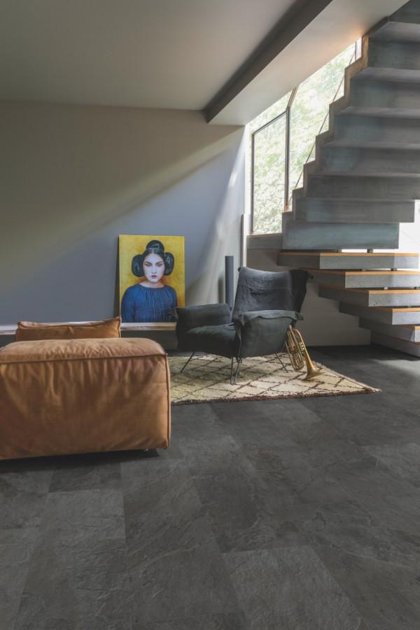 Vinilinės grindys Quick Step, juodas skalūnas, AMCL40035_1