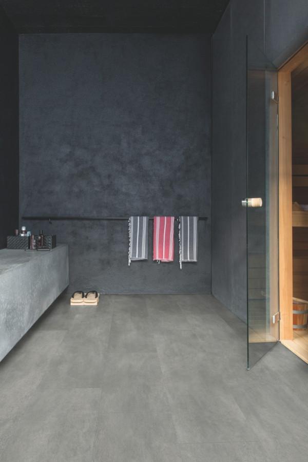 Vinilinės grindys Quick Step, tamsiai pilkas betonas, AMCL40051_1
